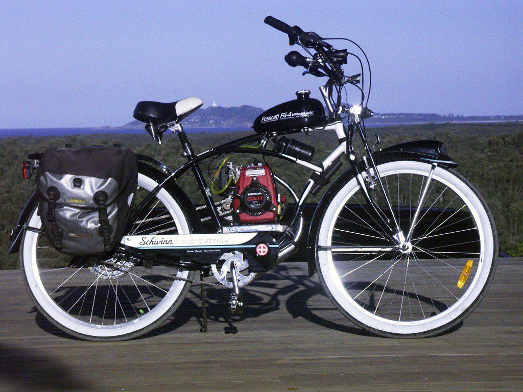 Установка мотора под рамой велосипеда