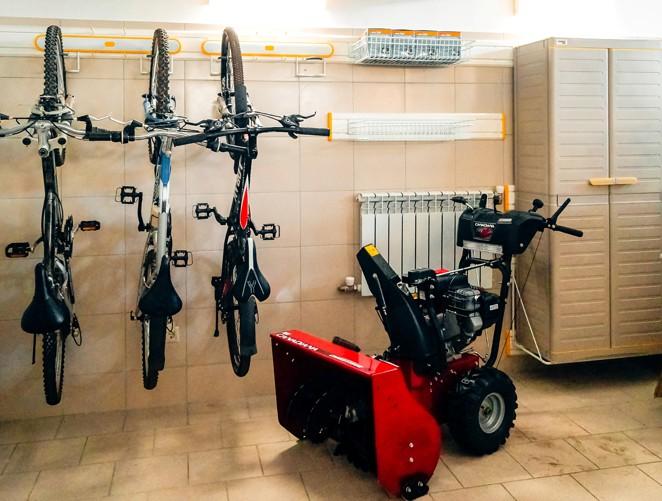 Фиксация велосипеда за колесо