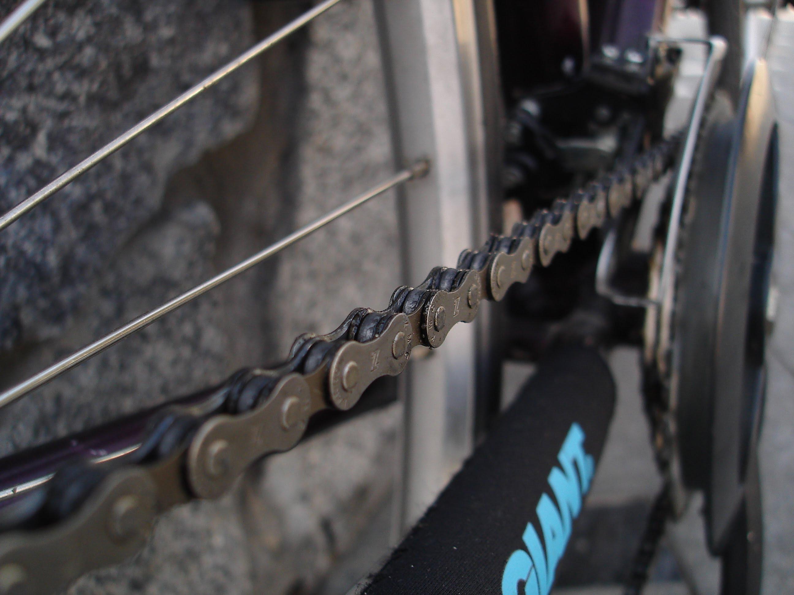 Смазка цепи на велосипеде