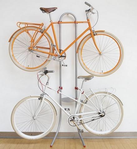 Хранение велосипеда на стойке