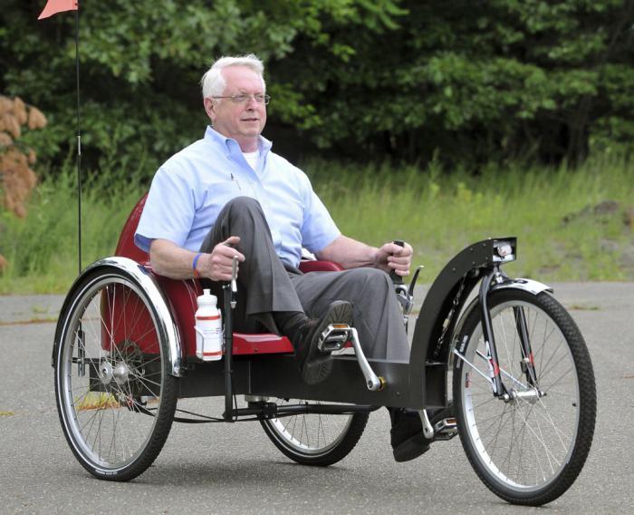 Велосипед для пожилых людей
