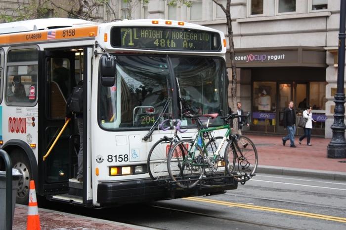 В автобус с велосипедом