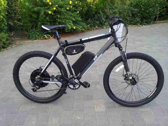 Электровелосипед с аккумулятором фото
