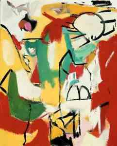 Franz-Kline-xx-Black-on-Green-Red-and-Yellow-1948