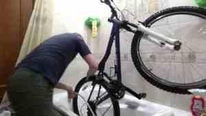Как мыть велосипед в ванной