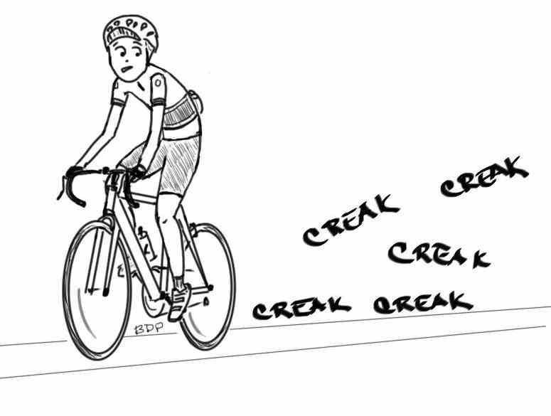 Скрип велосипеда - причины