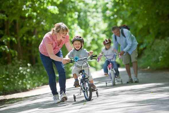 Трехколесный велосипед - обучение