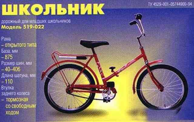 Велосипед Школьник без рамы