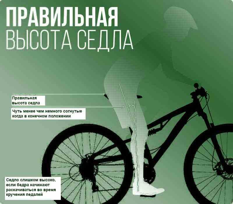 Правила посадки на велосипеде